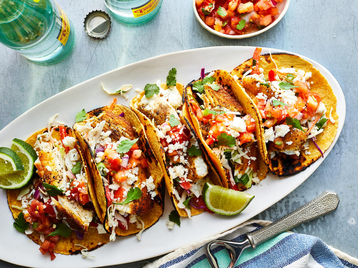 Friday: Seared Halibut Fish Tacos With Cilantro Slaw