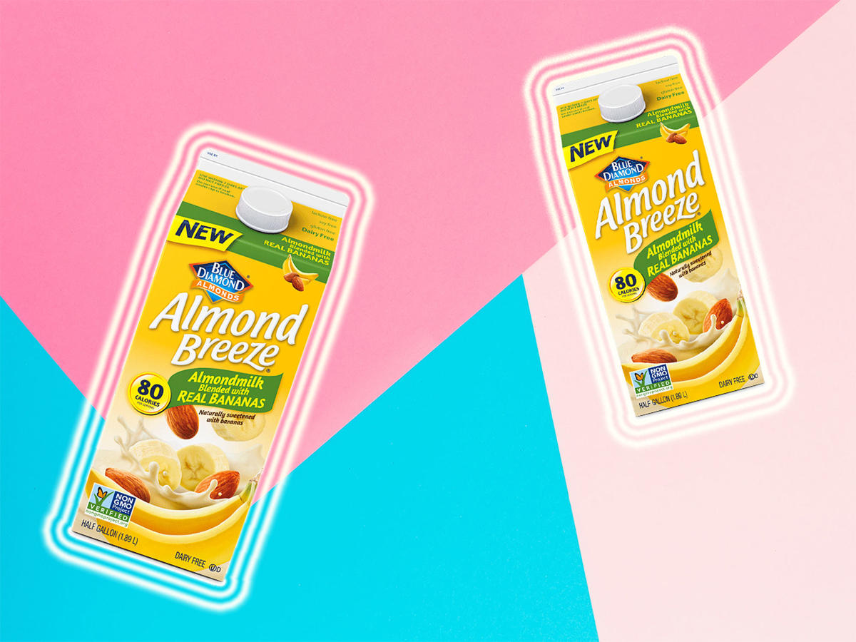 We Tried Blue Diamond Almond Breeze's New Banana Milk—And It's Pretty Healthy