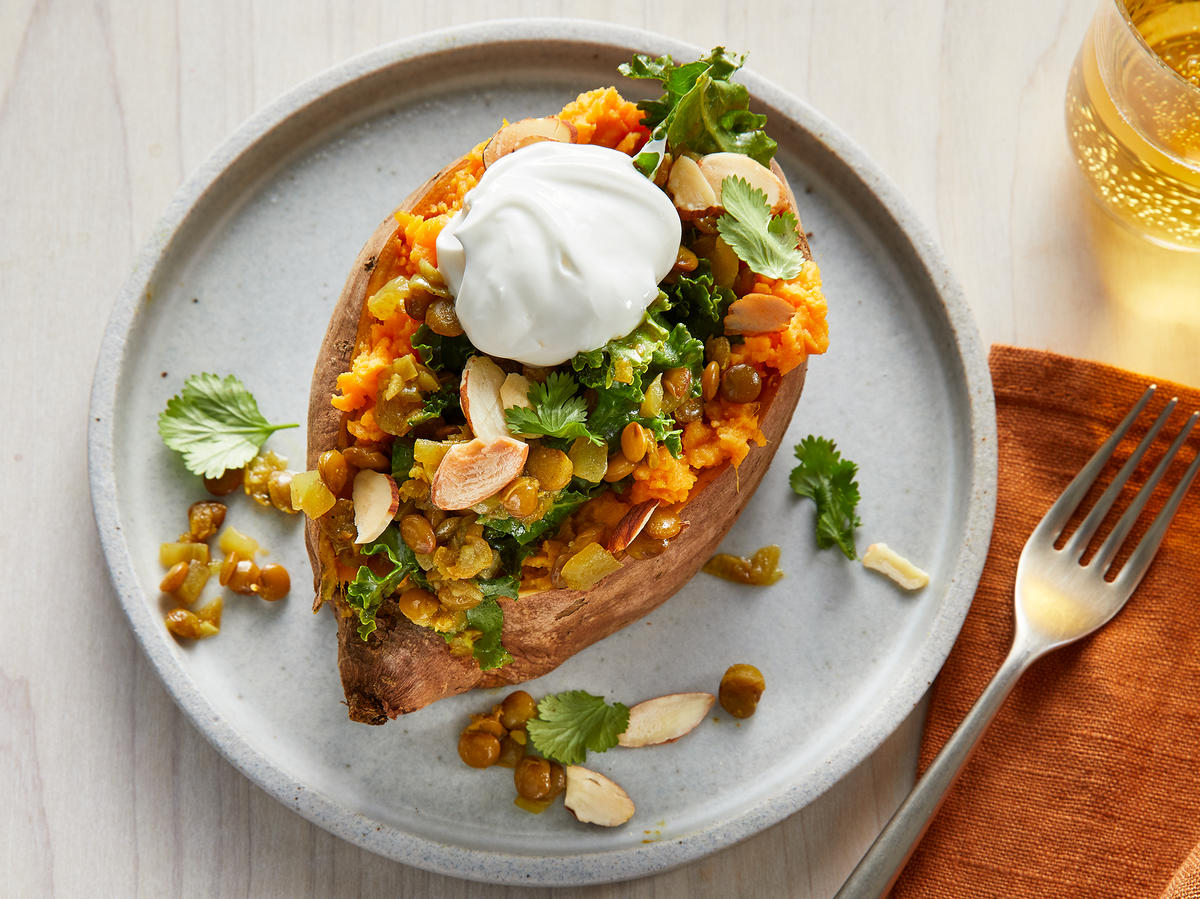 Vegetarian Stuffed Sweet Potatoes
