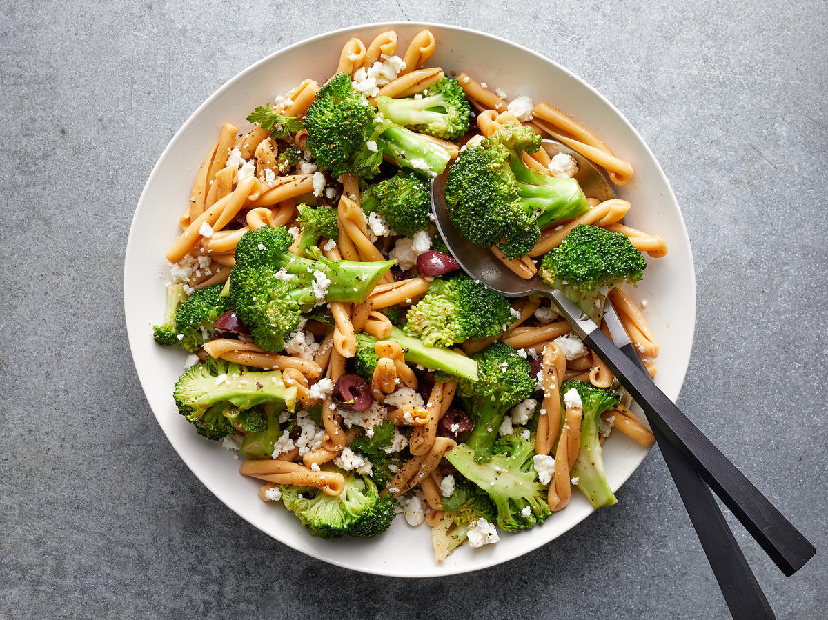 Big-Batch Broccoli-Feta Pasta Salad