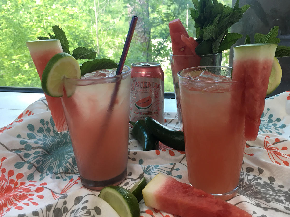 How to Make a Sparkly, Spicy, Lighter Watermelon Margarita