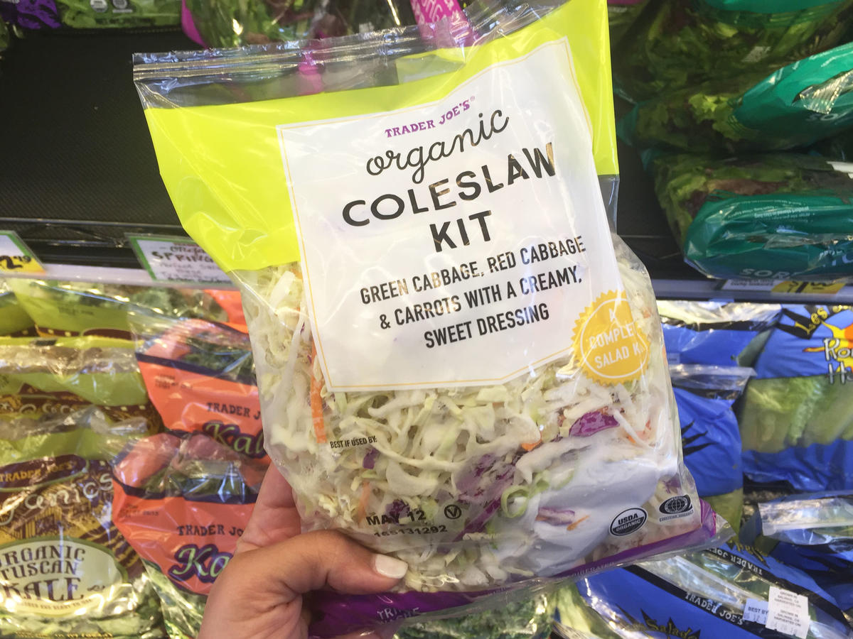 bag of organic coleslaw