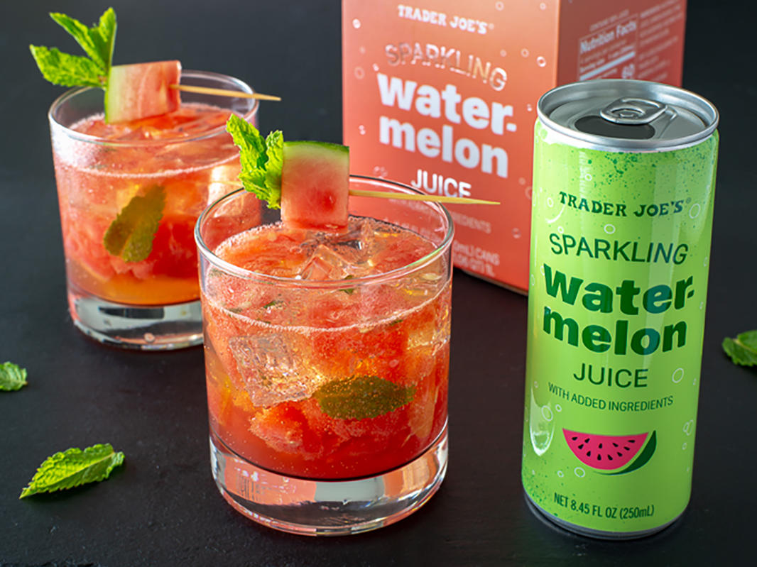 Trader Joe's Unveils Sparkling Watermelon Juice for Summer