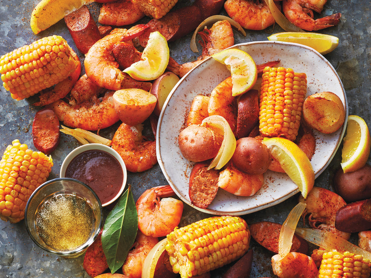 Easy Slow Cooker Shrimp Boil