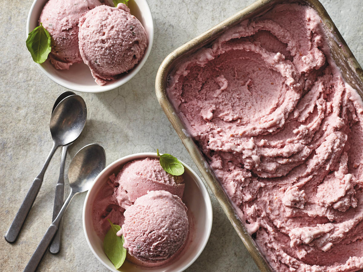 "Strawberry-Basil ""Nice"" Cream"