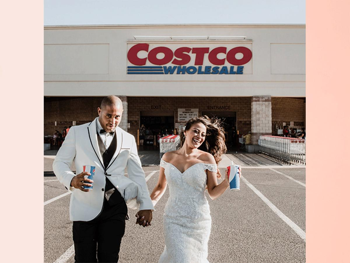 This Couple Took Their Wedding Photos at Costco, and They're Actually Super Cute