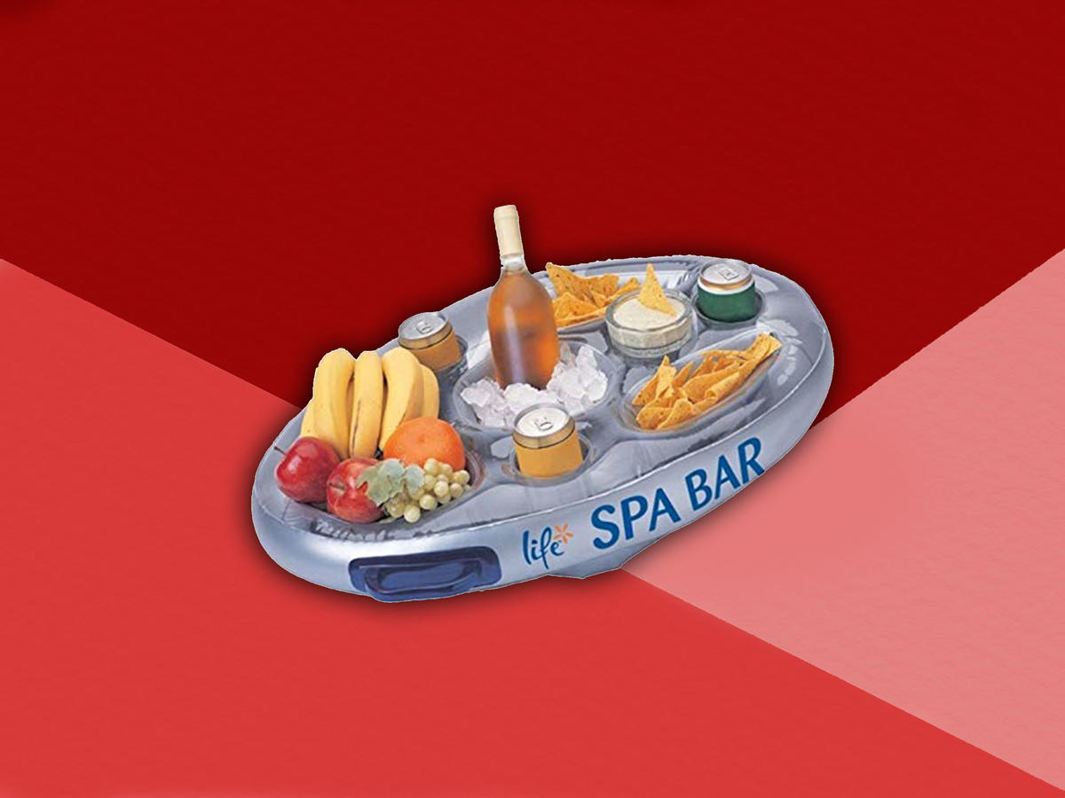 This 2-in-1 Floating Wine Cooler and Charcuterie Board Is #SummerGoals