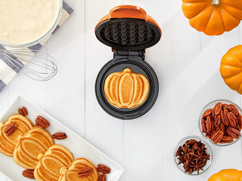 This Mini Pumpkin Waffle Maker From Amazon Will Make Your Fall Way Cuter (and Tastier)