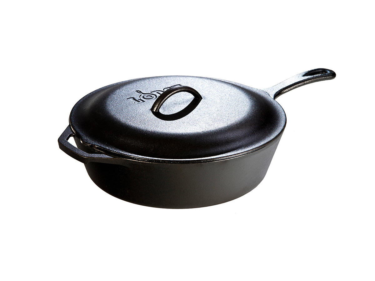 Lodge Cast Iron 10.25  3 Quart Covered Deep Skillet