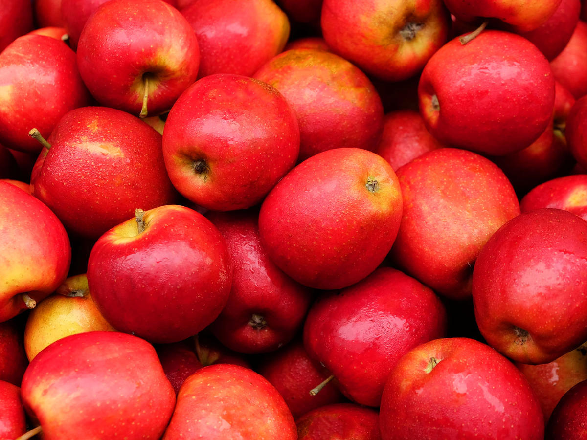 red apples full frame