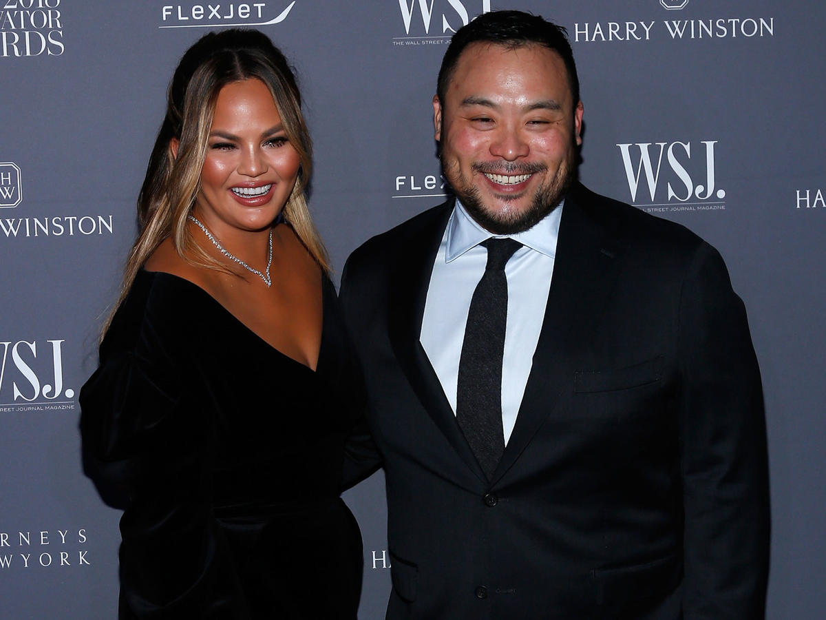 Chrissy Teigen and David Chang