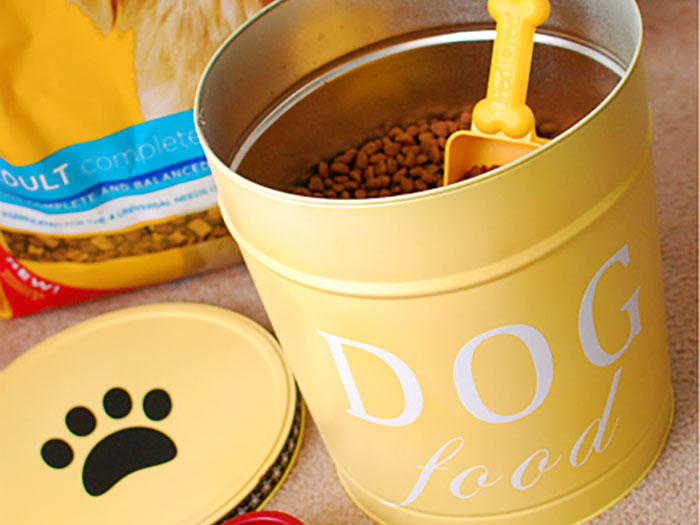 Turn Popcorn Containers into Dog Food Storage