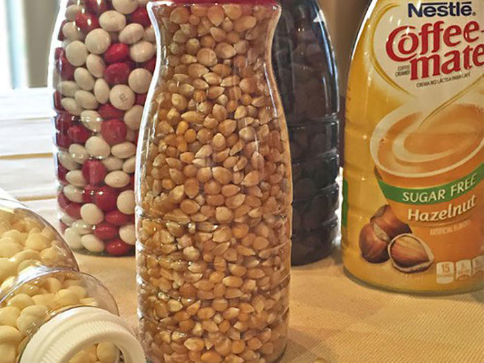Turn Coffee Creamer Containers into Food Storage