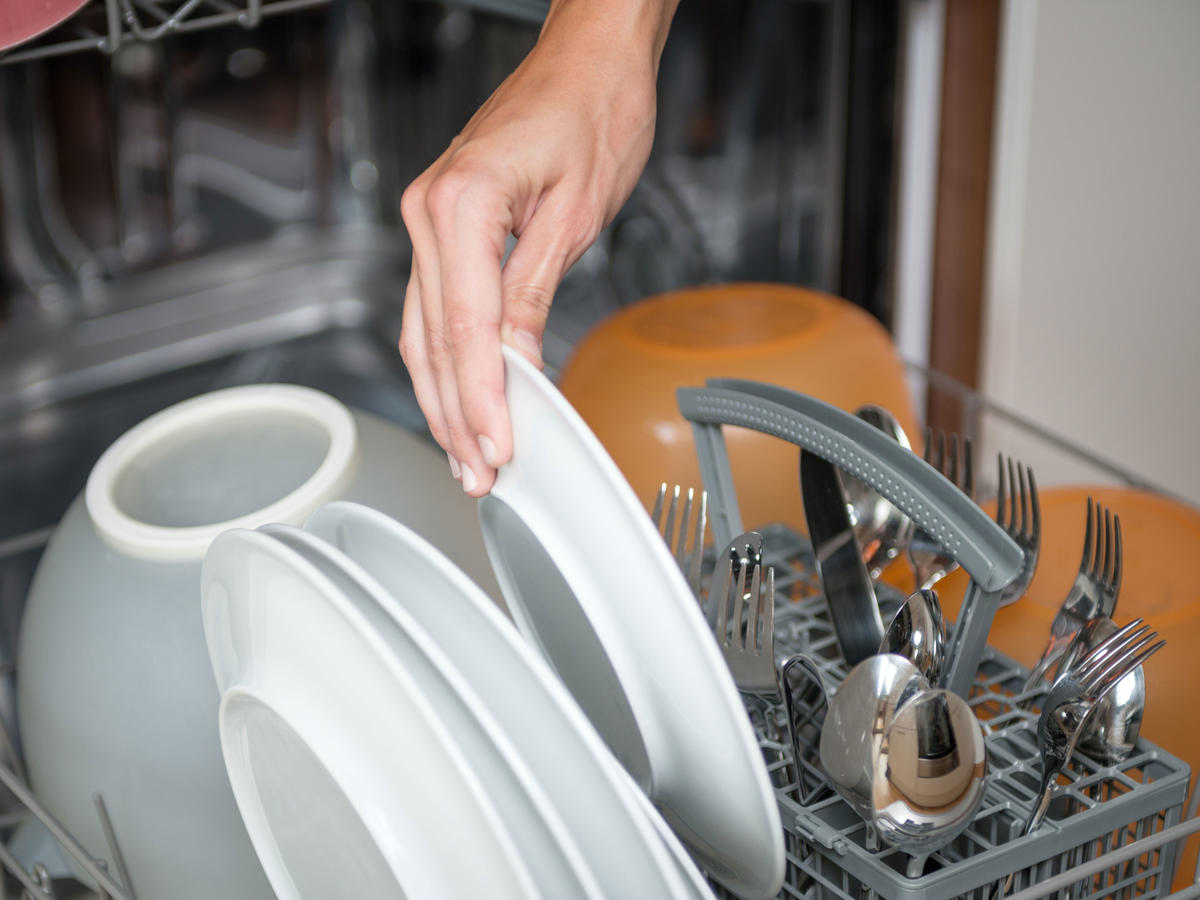 Hand Loading Dishwasher