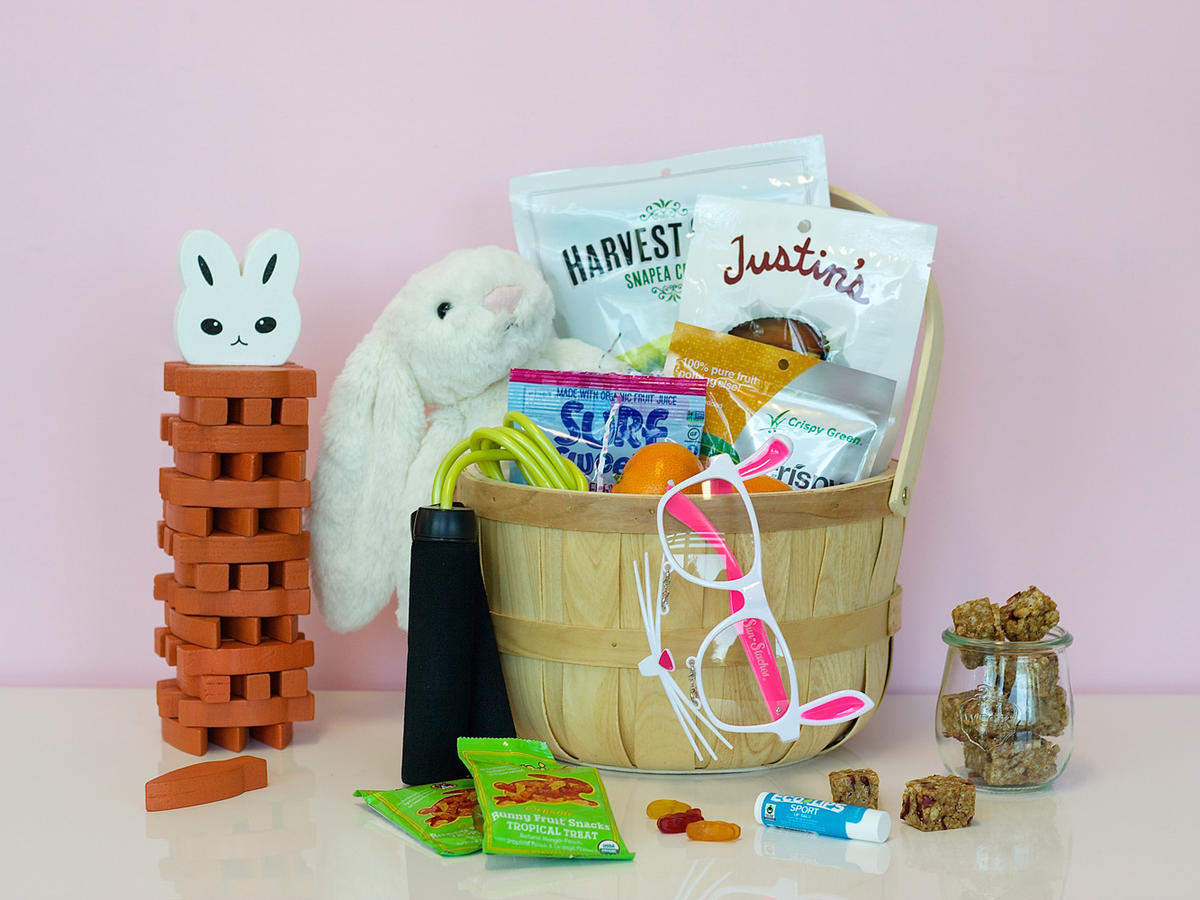 This year the bunny is bringing a healthier easter basket 1603w healthy easter basketg negle Gallery
