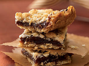 Moist and chewy, these date-filled bars make a satisfying afternoon snack or a nice treat to bring into the office. They travel well, since you can let them cool in the baking pan and carry them. Or, for a prettier package, place them in a cookie tin divided by sheets of parchment paper.
