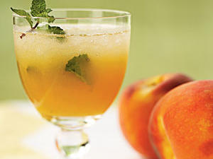 "This Cuban cocktail features a unique twist with the addition of a sweet seasonal favorite. ""The fresh peaches added a nice light, refreshing flavor, especially good on a hot day,"" explains Lisa. ""The lime and the mint balanced out the sugar. I much prefer these mojitos to the traditional version."""
