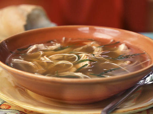 chicken noodle soup with fresh tarragon recipe
