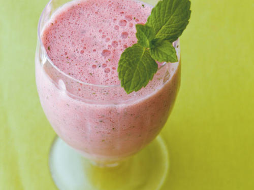 Watermelon with a Hint of Mint Smoothie