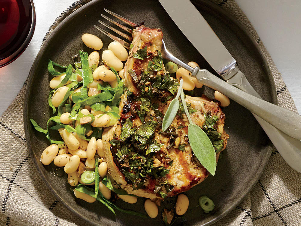 Tuscan-Style Garlic-Herb Pork Chops