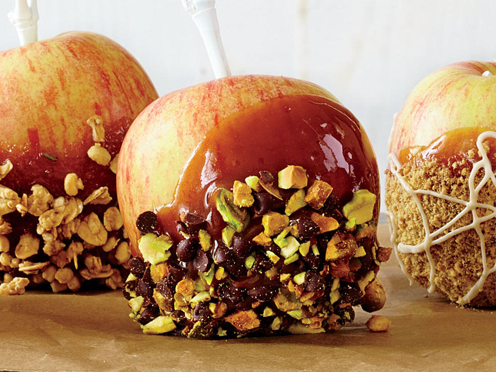 Pistachio-Orange Caramel Apple