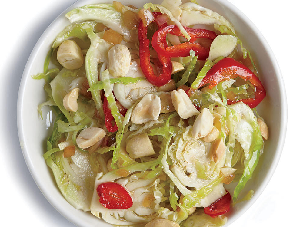 Sliced red chile adds heat to this salad, while a handful of peanuts gives it satisfying crunch.