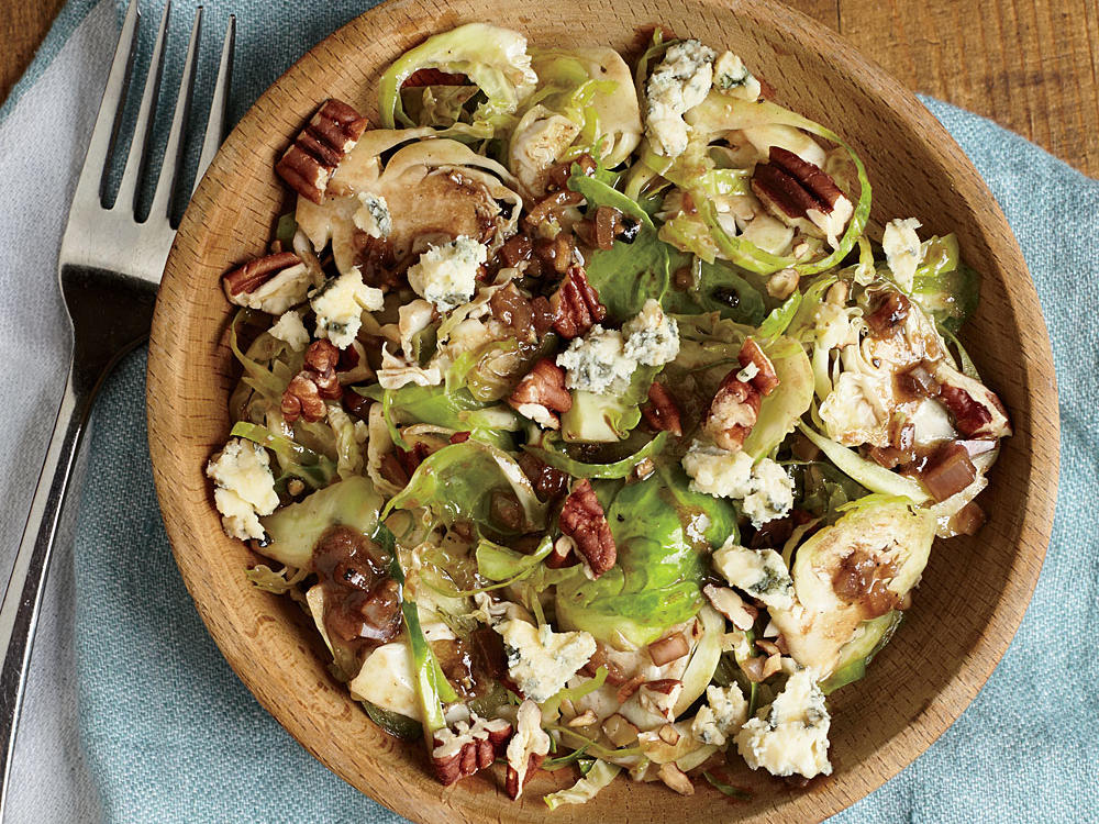 Drizzled with a simple vinaigrette, this side salad comes together in minutes. To save even more time, you can finely shred the brussels sprouts with a food processor.