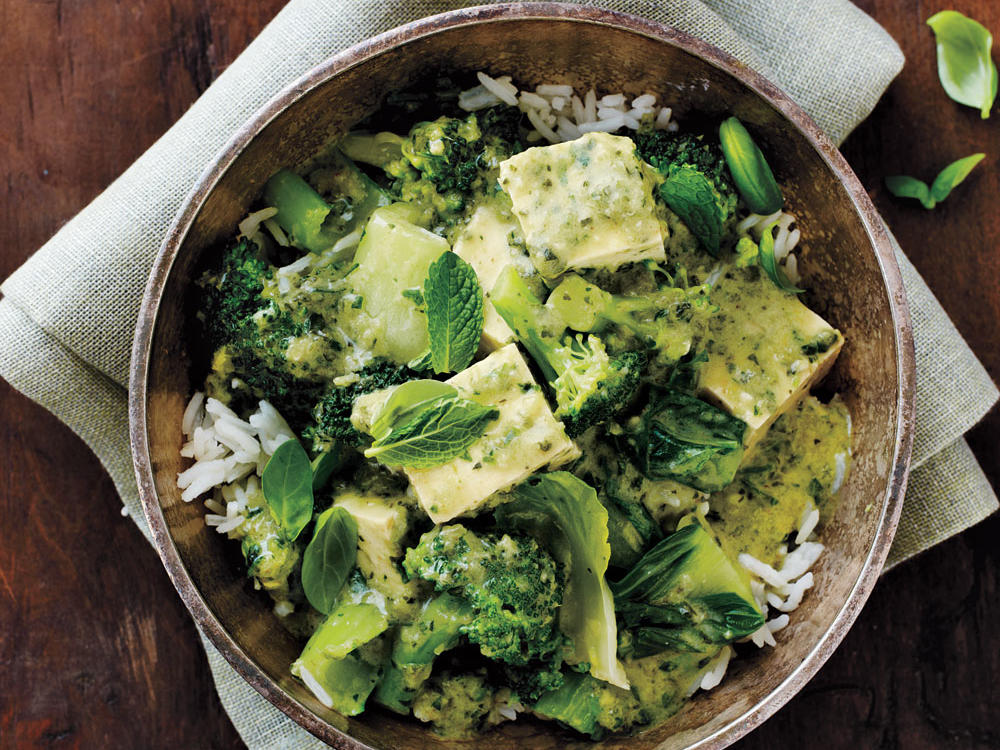 green curry with bok choy recipe