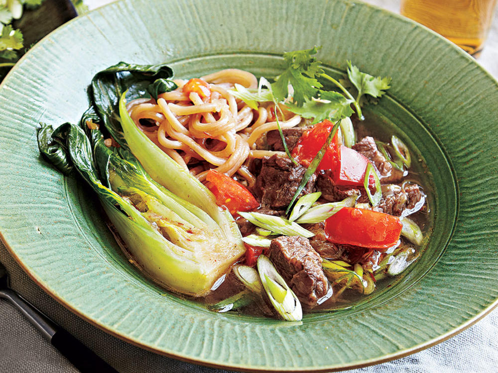 Beef shank works beautifully for slow-cooked soups, breaking down during long simmering to render the aromatic broth super beefy.