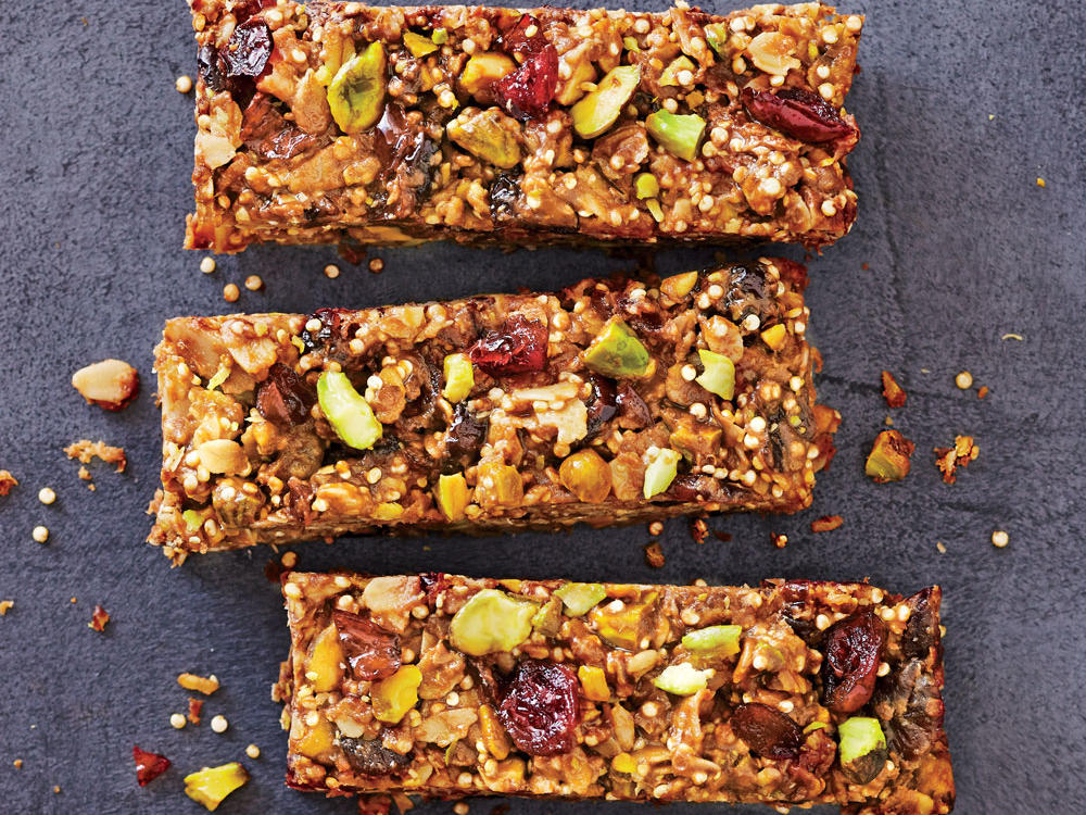Cranberry-Pistachio Energy Bars