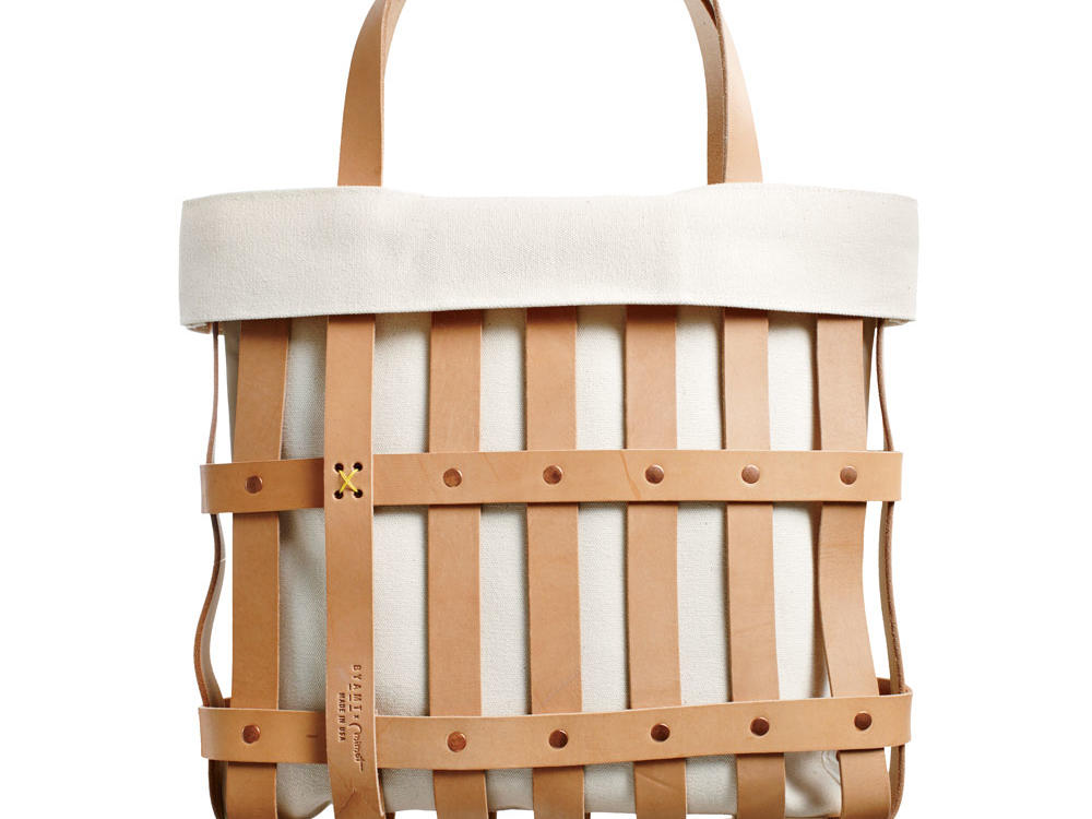 Leather Strap Tote Bag