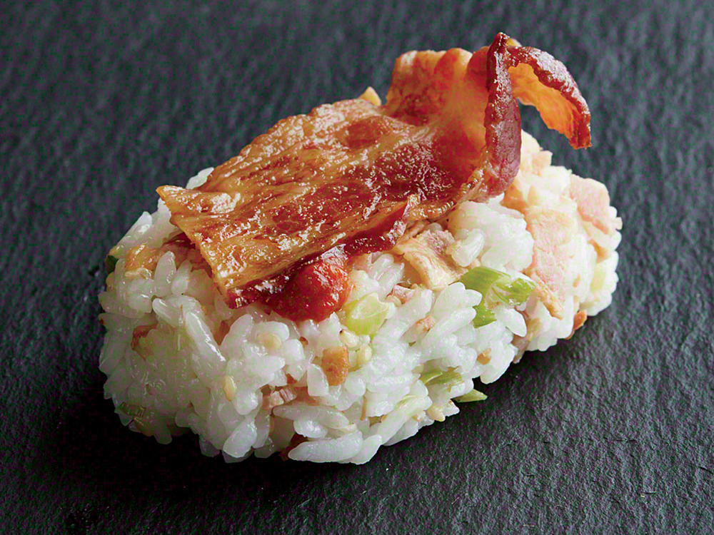 bacon nigiri recipe