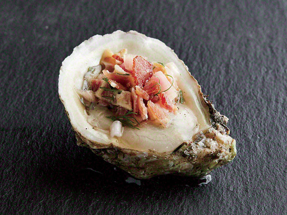 oyster with bacon mignonette recipe