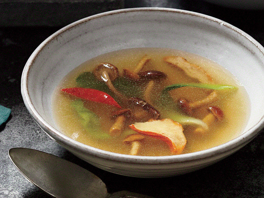 nameko and lobster mushroom soup recipe