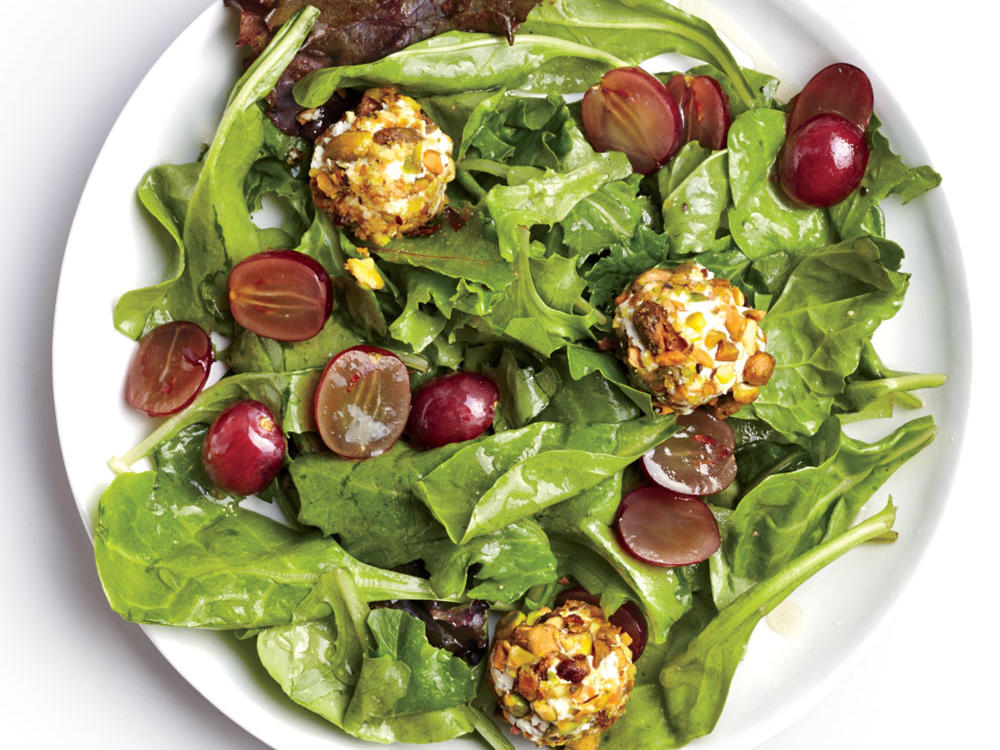 Salad with Pistachio Goat Cheese