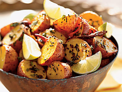 roasted potatoes with north indian spices recipe