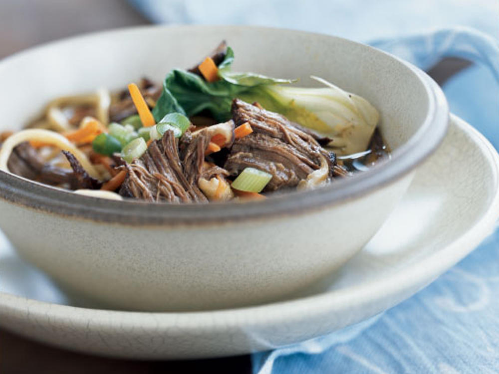 chinese style stove top pot roast with noodles recipe