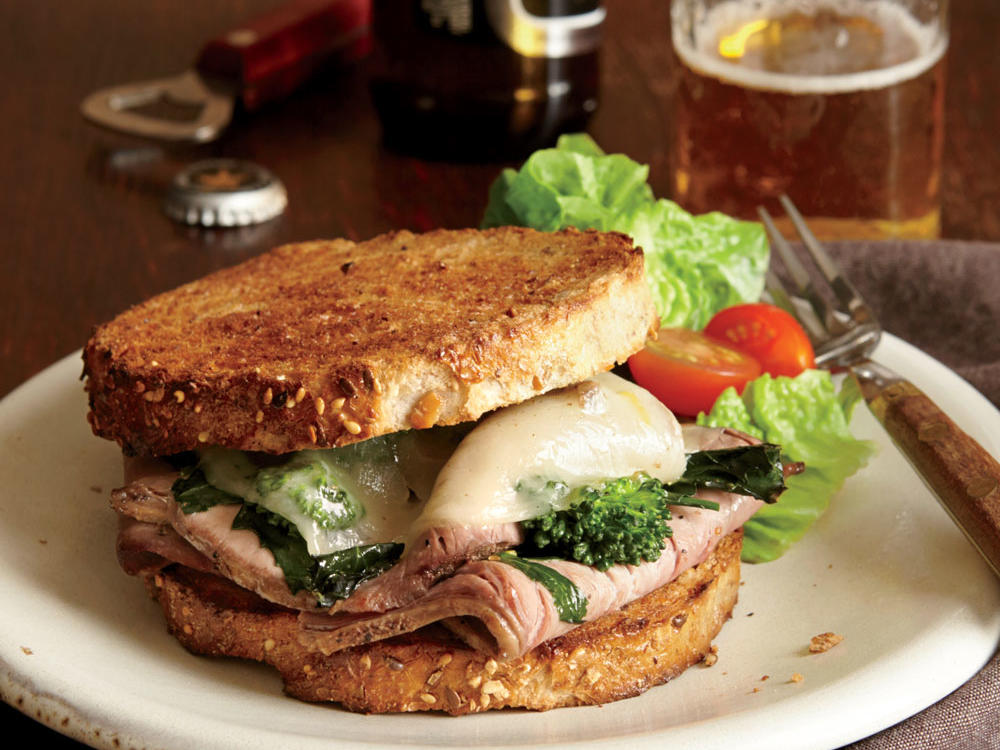 Roast Beef, Broccoli Rabe, and Provolone Sandwiches
