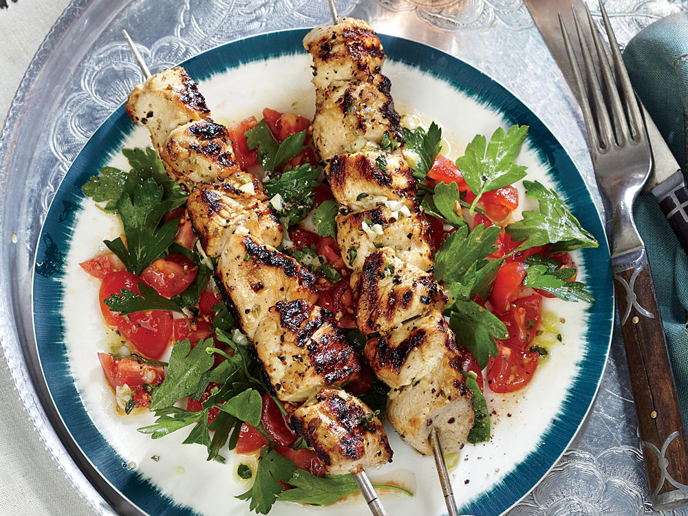 Sticking to low-ingredient meals helps keep your dish in check when following a clean-eating diet. This six-ingredient dish delivers big taste with minimal fuss. Start marinating the chicken in the morning to make prep time quick and easy in the afternoon. Serve the salad on a bed of bulgur for a twist on tabbouleh and a fiber boost. If parsley salad isn't your thing, try a spinach salad instead. This is the perfect clean-eating dish for summer.