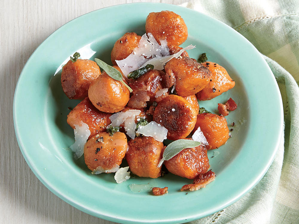 Sweet Potato Gnocchi with Bacon and Sage