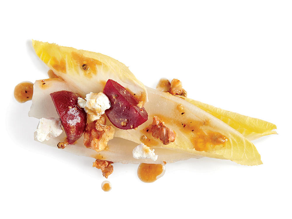 endive salad with beets goat cheese and walnuts recipe