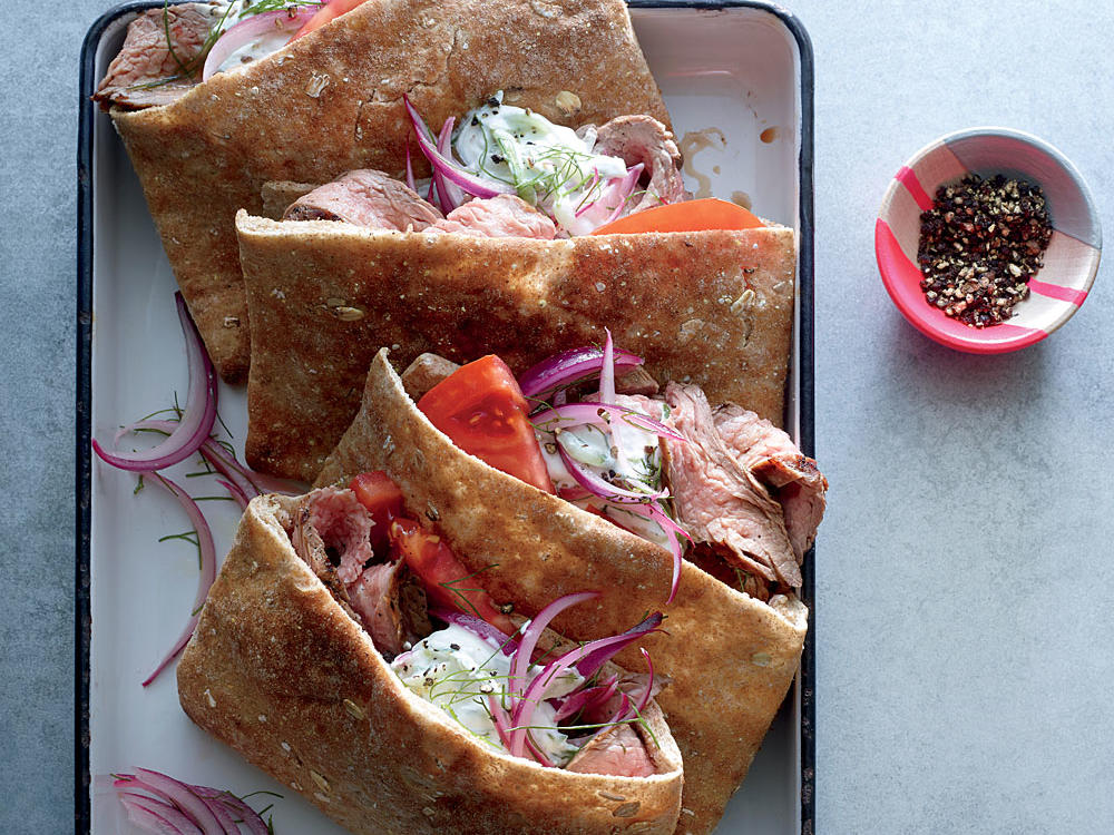 Captivating Grilled Flank Steak Gyros Great Ideas