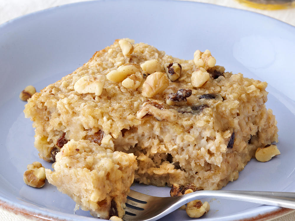Try baked oatmeal for an unexpected morning treat. It's a mix between an oatmeal bar and traditional creamy breakfast oatmeal.