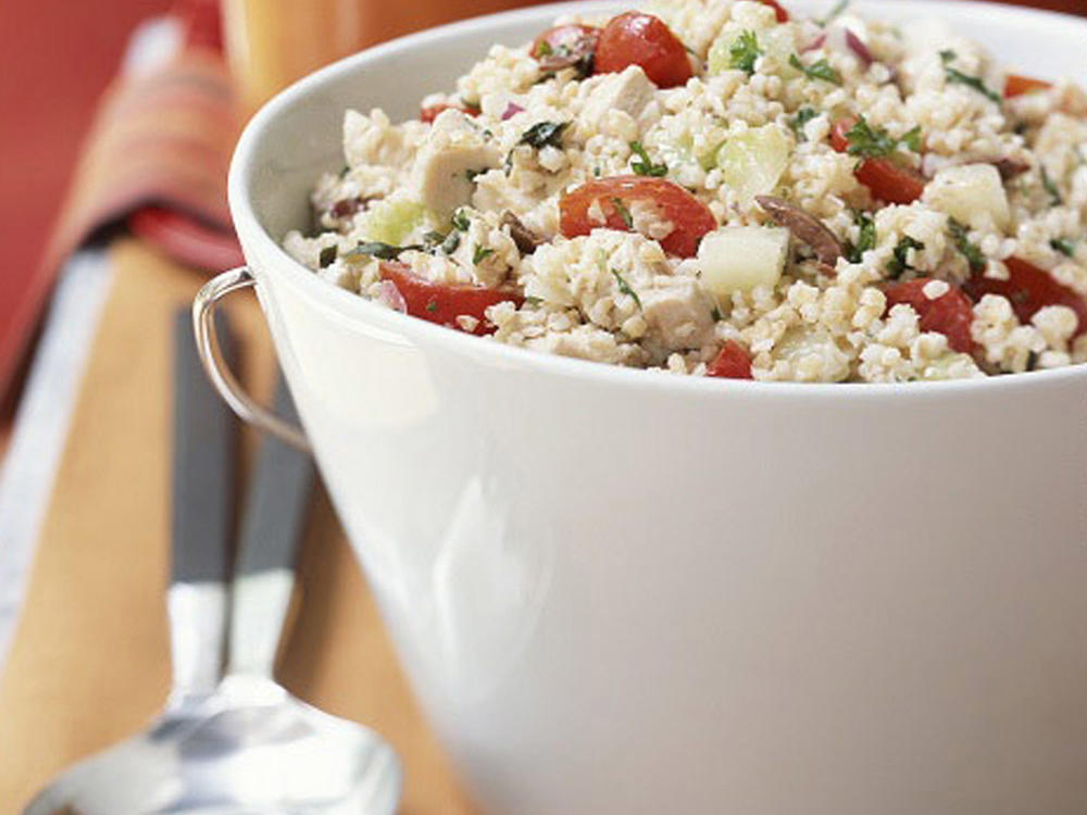 greek bulgur salad with chicken recipe