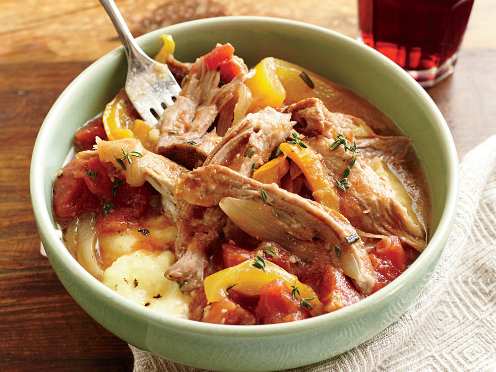 italian braised pork with polenta recipe