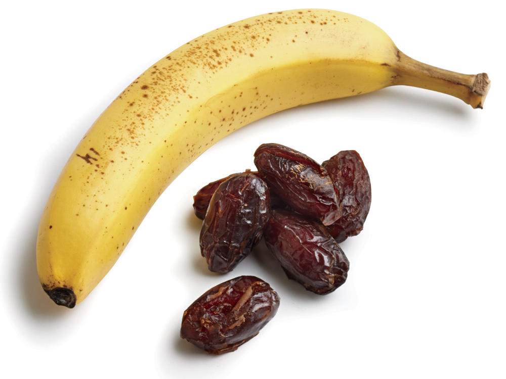 Cut Refined Sugar with Dates and Bananas