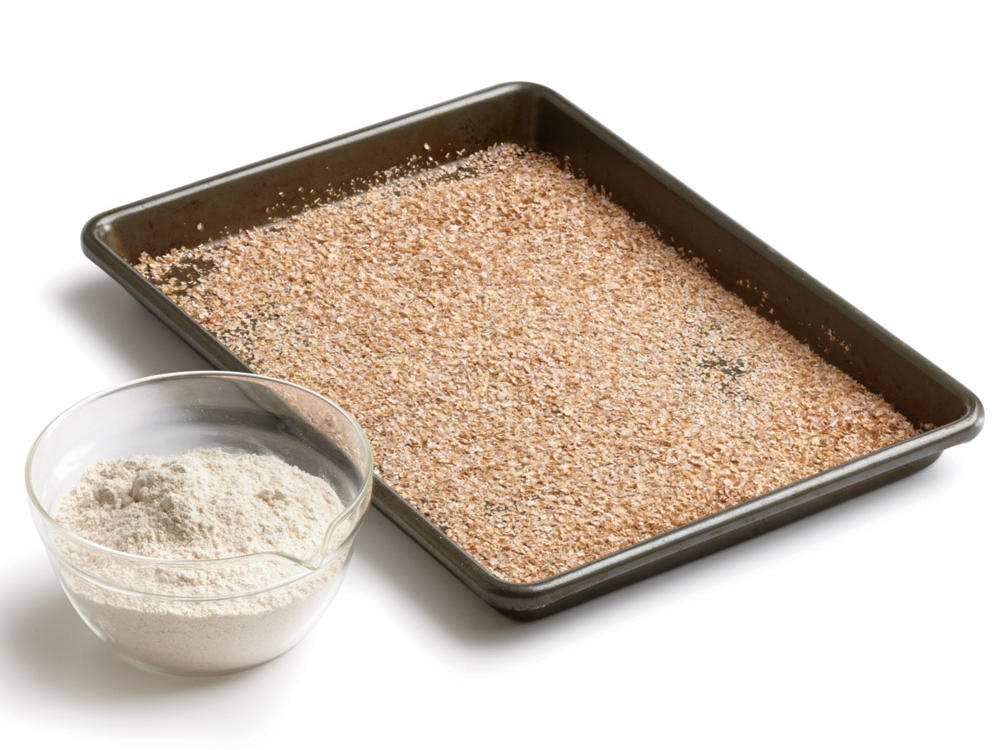 round out the batter with whole grain pastry flour