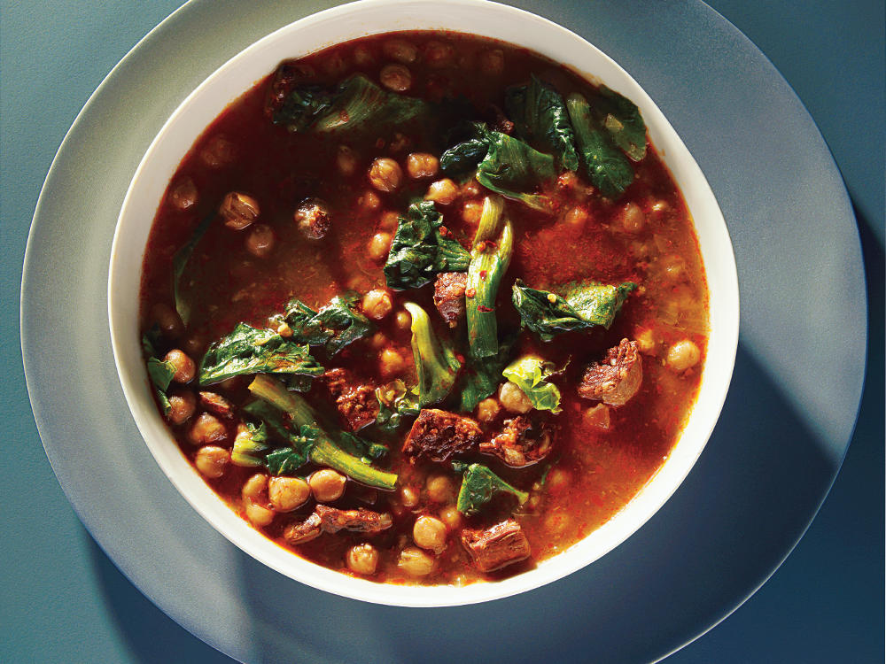 one hour spanish chickpea soup recipe