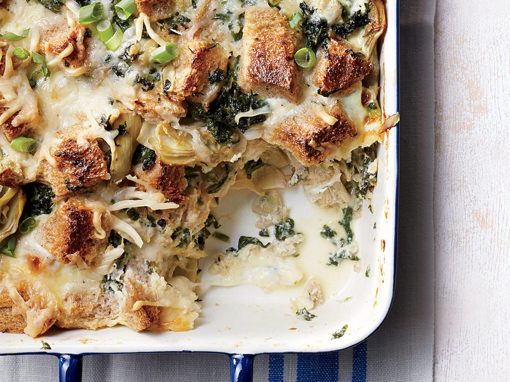 Artichoke and Spinach Strata