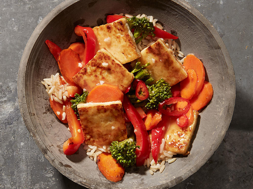 sweet and sour tofu vegetable stir fry recipe